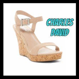 🌸NWT🌸Charles by Chalrles David Cork wedge heels